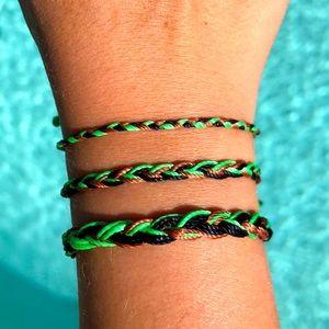 🍋🌿Handmade Adjustable Bracelet Set🌿🍋